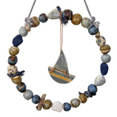 Jan Guest coastal art - Sailing Wreath