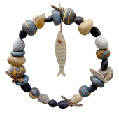 Jan Guest coastal art - Fish Wreath